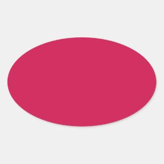 Crimson Oval Sticker