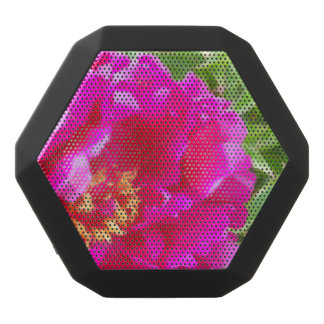 crimson peony art black bluetooth speaker