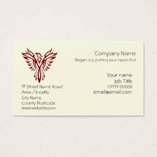 Crimson Phoenix business card templates