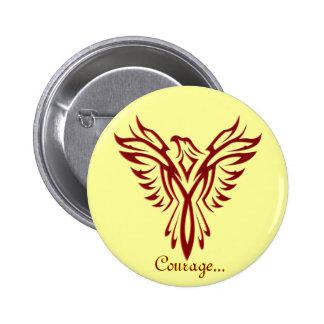 Crimson Phoenix Rising badge button