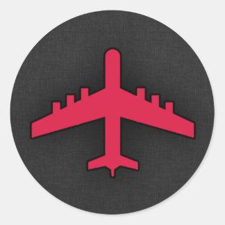 Crimson Red Airplane Stickers