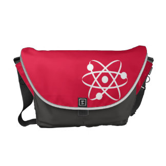 Crimson Red Atom Courier Bags