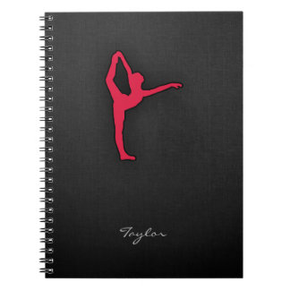 Crimson Red Ballet Dancer Notebook