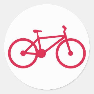 Crimson Red Bicycle Round Sticker