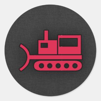 Crimson Red Bulldozer Stickers
