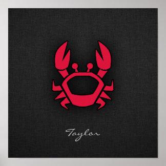 Crimson Red Crab Posters