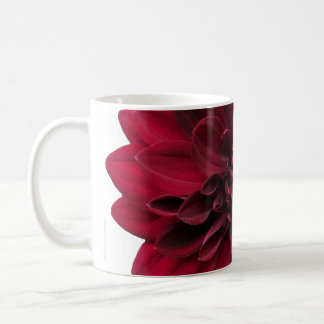 Crimson Red Dahlia Flower - Arabian Night Coffee Mug