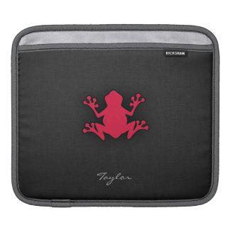 Crimson Red Frog iPad Sleeve