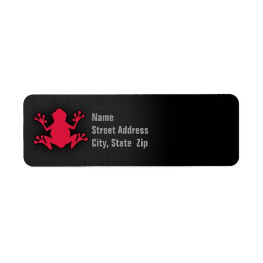 Crimson Red Frog Return Address Label