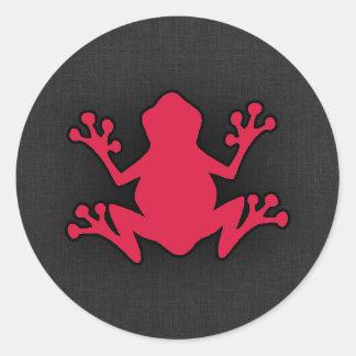 Crimson Red Frog Round Sticker