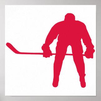 Crimson Red Hockey Print