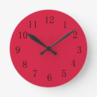 Crimson Red Kitchen Wall Clock