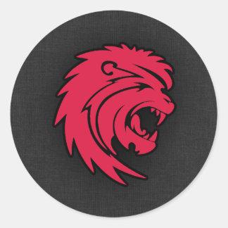 Crimson Red Leo Sticker
