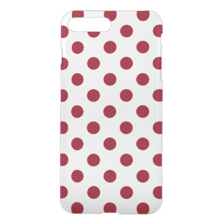 Crimson Red Polka Dots Circles iPhone 8 Plus/7 Plus Case