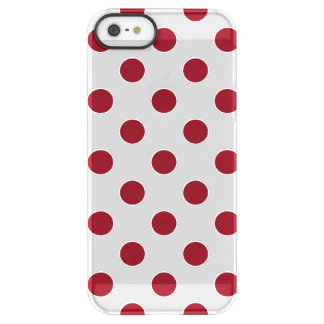 Crimson Red Polka Dots Circles Permafrost® iPhone SE/5/5s Case
