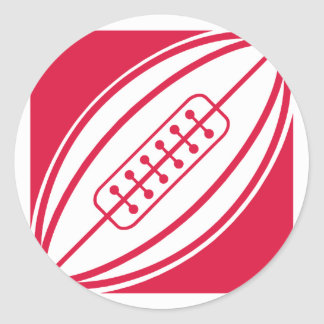 Crimson Red Rugby Stickers