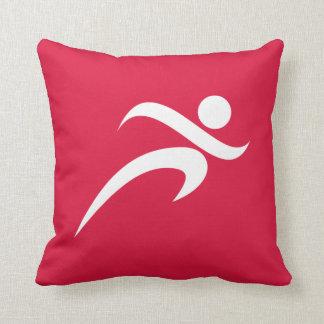 Crimson Red Running Cushion