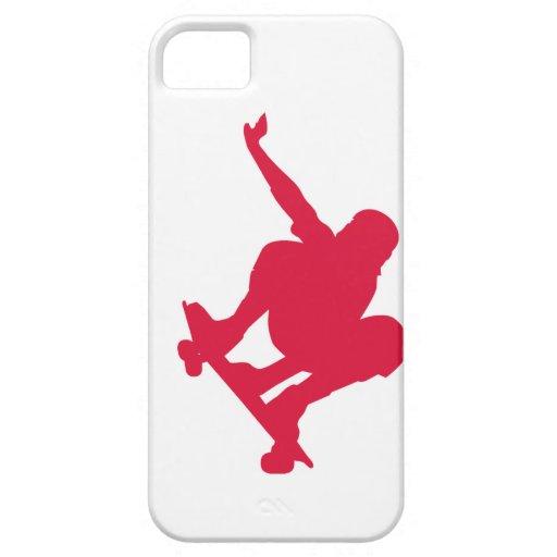 Crimson Red Skateboard iPhone 5 Case