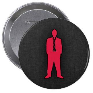 Crimson Red swag 10 Cm Round Badge