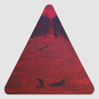 Crimson River Triangle Sticker