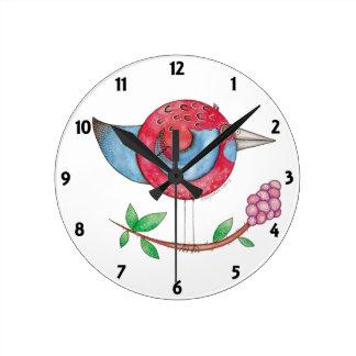 'Crimson Rosella' Clock