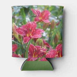 Crimson Shadows Red Daylilies Can Cooler