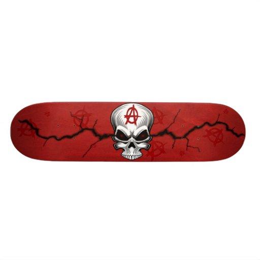 Crimson Skull Anarchy Custom Skateboard