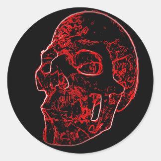 Crimson Skull Sticker