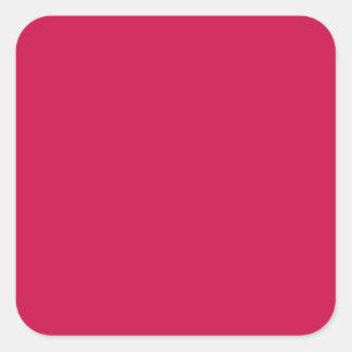 Crimson Square Sticker