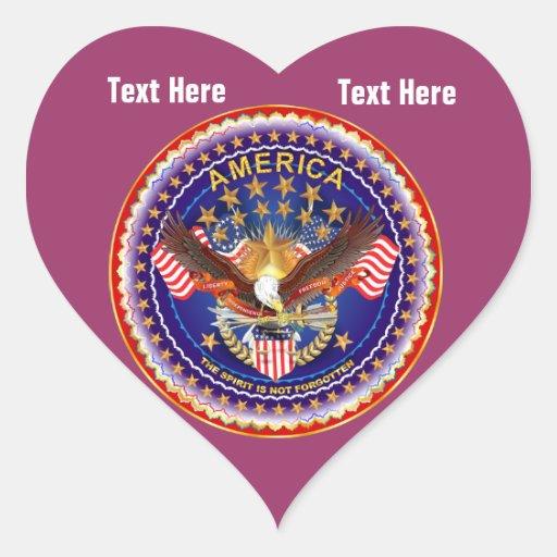 Crimson Heart Stickers