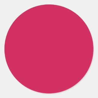 Crimson Round Sticker