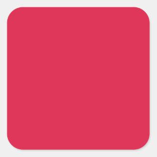 Crimson Square Stickers