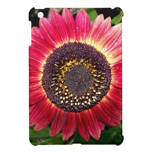 Crimson Sunflower Case For The iPad Mini