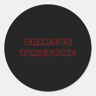CRIMSON TIMEBOMB ROUND STICKER