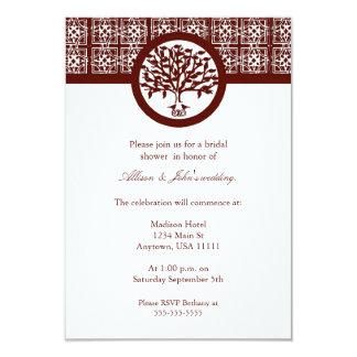 Crimson Tree Emblem Bridal Shower Invitation