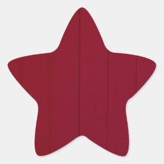Crimson Wall Photography Star Sticker
