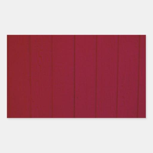 Crimson Wall Photography Rectangle Sticker