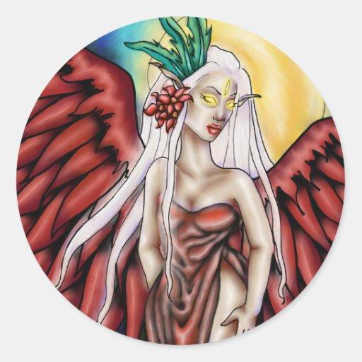 Crimson Wings- Faery Sticker