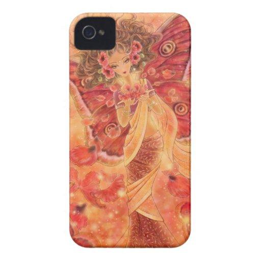 Crimson Wings Fairy Fantasy Blackberry Case