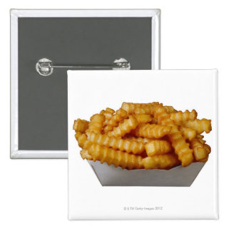 Crinkle-cut french fries 15 cm square badge