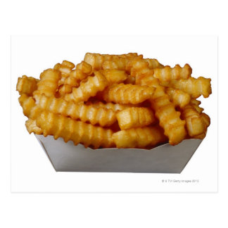 Crinkle-cut french fries postcard