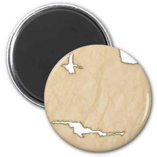 Crinkle Paper w/Burns Background 6 Cm Round Magnet