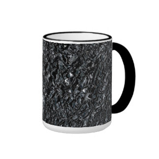 Crinkled Black Aluminum Mugs