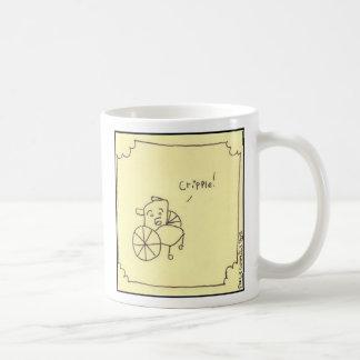 cripple classic white coffee mug