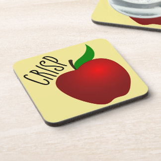 Crisp Apple Plastic coasters w/cork back