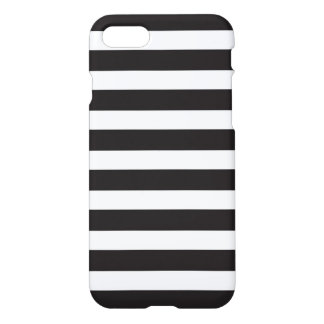 Crisp black and white stripes iPhone case