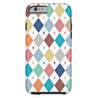 Crisp Modern Argyle Tough iPhone 6 Case