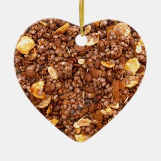 Crisp Muesli Texture Ceramic Heart Decoration