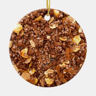 Crisp Muesli Texture Ceramic Ornament