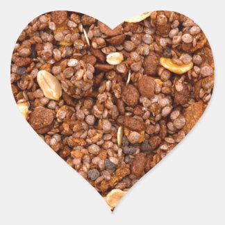 Crisp Muesli Texture Heart Sticker